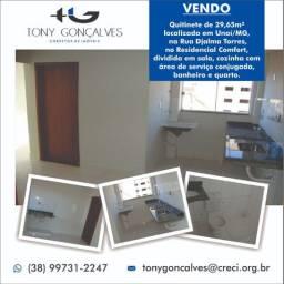 Quitinete de 29,65m² localizada em Unaí/MG | Residencial Comfort
