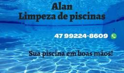 Serviço de limpeza e manutenção de piscinas