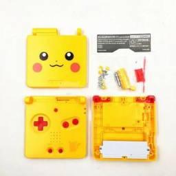 (Super Promoção)Kit Vídeo Game portátil Pokémon Pikachu+Brinde especial