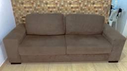Sofá de 4 lugares marrom