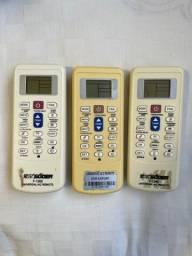 Controles remotos universais de ar condicionado