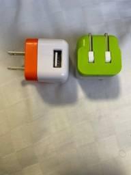 Carregador USB 1A para viagem