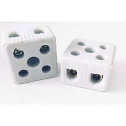 Título do anúncio: Conector Porcelana 10mm 2 Polos Thompson