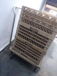 Caixa para transporte de taças