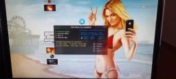 ps3 + 1 manete + hd 750gb + desbloqueio cfw + 2 jogos originais