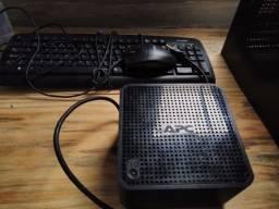 CPU login,teclado e mouse,estabilizador