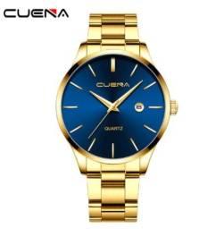 Relógios dos homens marca superior quartzo relógio de pulso movimento luxo