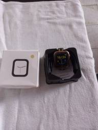 Relógio smartwatch e pulseira e case