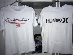 2 Camisas TAM: P / QuikSilver e Hurley / Nova
