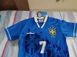 Camisa Seleção Brasileira 1994 Azul Original  - M
