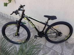 Bike 29 Caloi freios disco semi nova aceita cartão