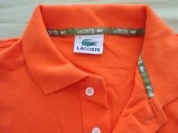 Camisa polo infantil, Lacoste tamanho 3 na cor laranja