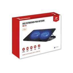 "Base para Notebook NBC-50BK 15,6"" C3Tech Led Azul - Loja Natan Abreu"