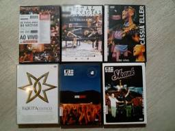 DVD de rock e pop nacional - kit 6 titulos