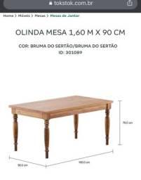 Mesa de jantar tokstok de madeira