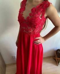 Vestido Longo Festa Rosa Pink