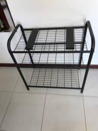 Rack de ferro preto