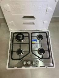 Cooktop 4 bocas cor Inox a Gás Electrolux (GT60X) - Nunca Usado
