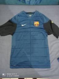 Camisa Barcelona treino Azul Marinho original