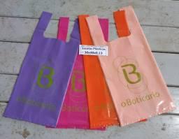 Kit 200 sacolas Personalizadas vazada 100 30x40 / camiseta 100 30X40 1 cor 1 lado