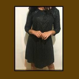 Vestido Chemise Preto Tamanho 40