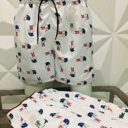 Shorts tactel groso com 3 bolso