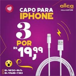 Promo 3 Cabos usb para iPhone lacrados e com garantia