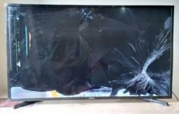 Samsung smart 43 - tela trincada