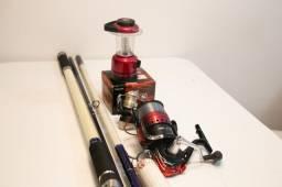 Vara de pescar + molinete +lanterninha