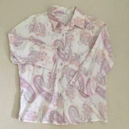 Camisa com manga 3/4 tamanho 48