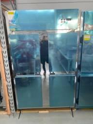 Geladeira freezer inox congados