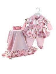 Kit Saida De Maternidade, Enxoval Para Bebê Menina Rosa Flor