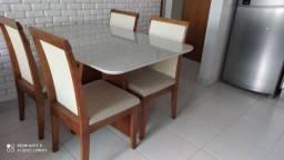 Mesa telinha pintura laka e madeira maciça