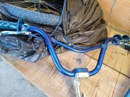 guidão anodizado Azul Caloi Cross extra light