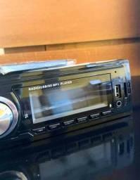 Rádio Automotivo MP3 Bluetooth e FM USB e cartão Sd pagamento no ato da entrega.