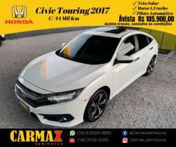 Honda Civic Touring G10 1.5 Turbo 2017 Muito Novo