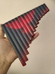 Flauta pan de PVC iniciante 15tubos sol+