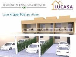 Casas 4/4 dúplex em Alagoinhas Bahia