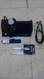 Medidor de pressão + Estetoscópio + termômetro