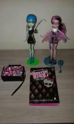 Bonecas Monste+Livro+Bolsinha