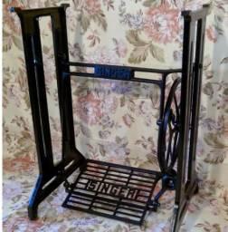 Pé de Maquina de Costura Singer Antigo Decoração
