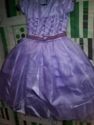 Vestido novo de festa princesa Sofia