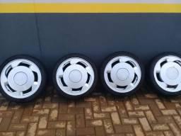 Rodas orbital 17 com pneus ótimos
