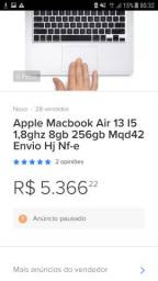 Macbook Air 2017 13' I5 1,8GHz 8GB 256GB