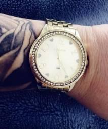 Relógio lince com strass