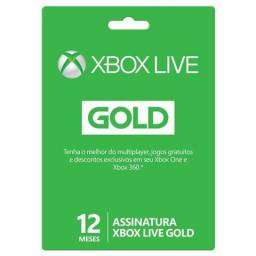 Cartão 12 Meses Live Gold Original Microsoft Lacrado