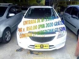 GM Onix Joy Completo+GNV Ent de R$ 4.000,00 48 X 820,00 IPVA 2020 GRÁTIS.. - 2018