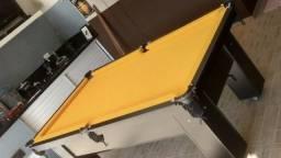 Mesa de Bilhar e Sinuca Preta Tx Tecido Amarelo Modelo LK2145