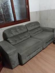 Sofá 4 lugares reclinável e retrátil