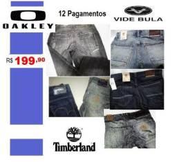 Jeans Timberland, Oakley e Vide Bula R$ 199,90 em 12 Vezes